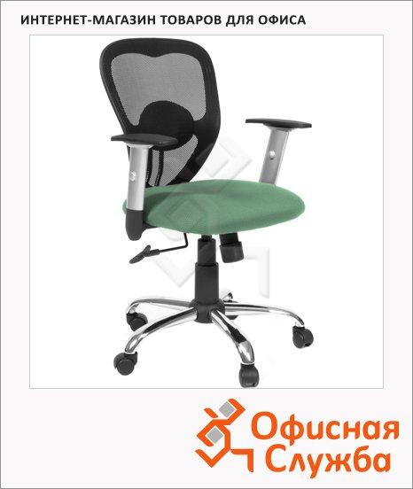 Кресло офисное Chairman 451 ткань, TW, крестовина хром, зеленая