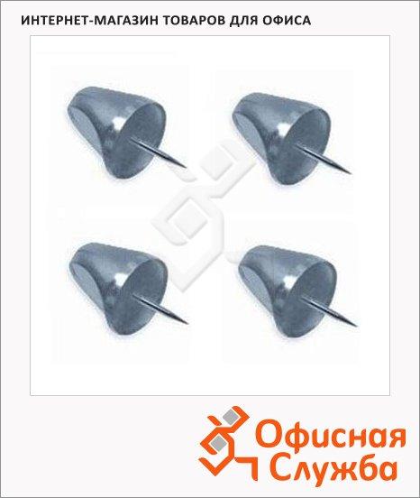 Кнопки силовые Bi-Office Mini Pushpins графитовые, 50 шт/уп, PI2167