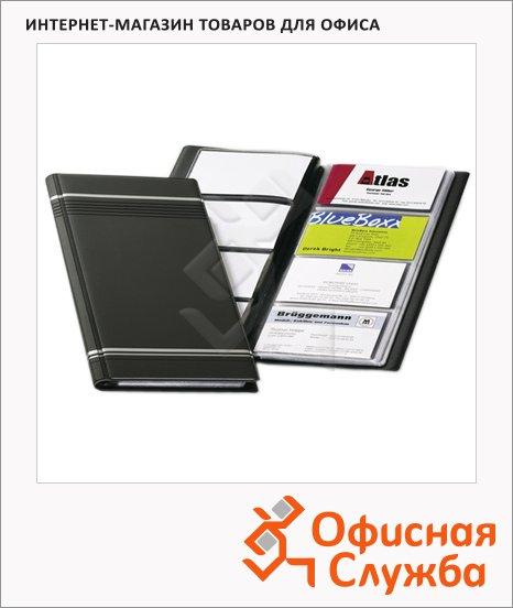Визитница Durable Visifix на 96 визиток., антрацит, ПВХ, 8581-58