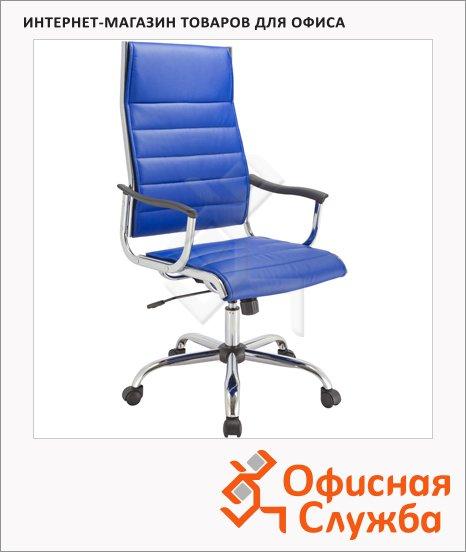 Кресло руководителя Бюрократ CH-994 иск. кожа, синяя