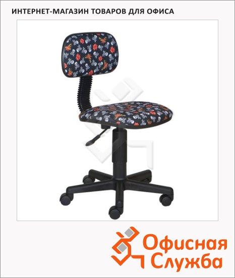 фото: Кресло детское CH-201NX ткань крестовина пластик, черная, пиратская тематика