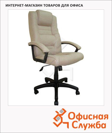 фото: Кресло руководителя T-9906AXSN иск. нубук бежевый