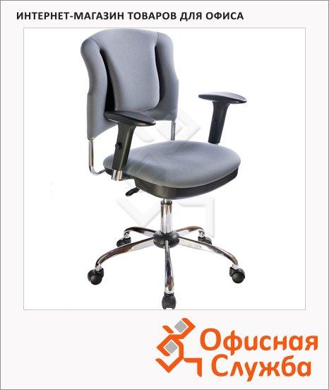 фото: Кресло офисное Бюрократ CH-H323AXSN ткань серая, крестовина хром