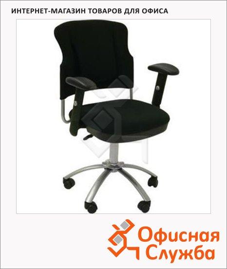 Кресло офисное Бюрократ CH-H323AXSN ткань, крестовина хром, черная
