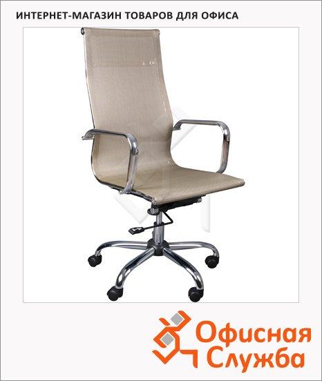 Кресло руководителя Бюрократ CH-993 иск. кожа, золотая, крестовина хром