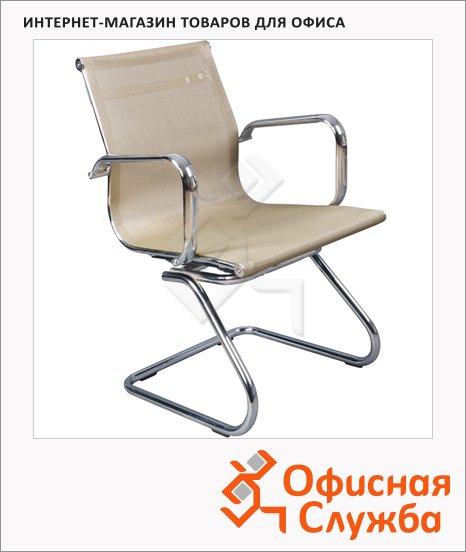 Кресло посетителя Бюрократ CH-993-Low-V иск. кожа, золотистая, на полозьях