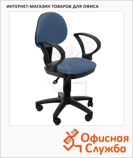 Кресло оператора Бюрократ CH-G318AXN ткань, синяя, темная, крестовина пластик, серая