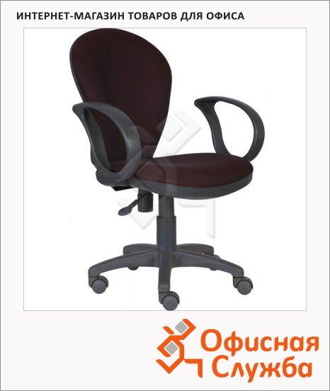 фото: Кресло офисное CH-G687AXSN серо-бордовое V-02