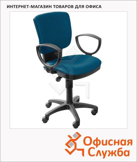 Кресло офисное Бюрократ CH-626AXSN ткань, синяя, ромбик, крестовина пластик