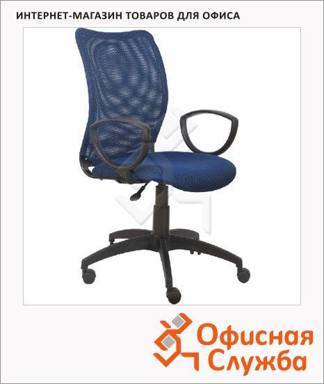 Кресло офисное Бюрократ CH-599 ткань, синяя, темная, TW