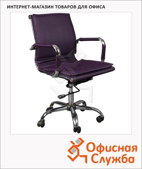 фото: Кресло руководителя CH-993-Low фиолетовое крестовина хром