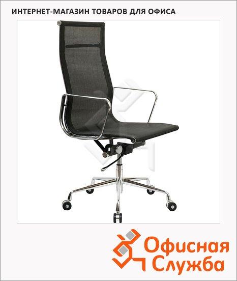 фото: Кресло руководителя Бюрократ CH-996 иск. кожа черная, крестовина хром