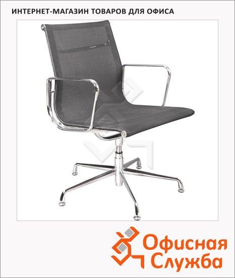 Кресло посетителя Бюрократ CH-996-Low-L ткань, черная, на крестовине