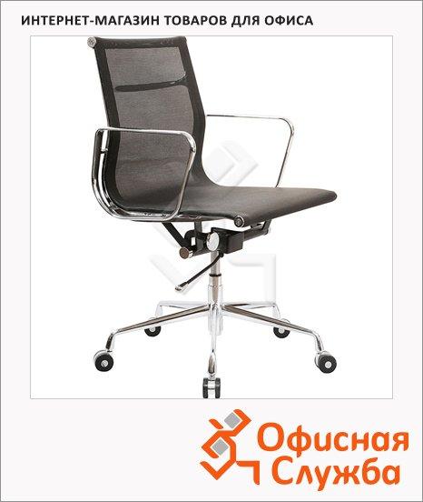 Кресло руководителя Бюрократ CH-996-Low ткань, черная, крестовина хром, низкая спинка