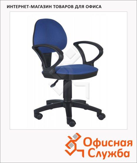 Кресло офисное Бюрократ CH-318AXN ткань, крестовина пластик, синяя, темная