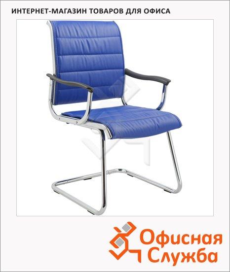 фото: Кресло посетителя CH-994AV синее на полозьях