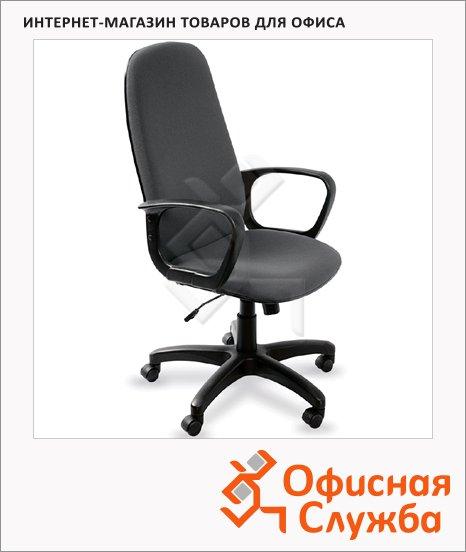 фото: Кресло руководителя Бюрократ CH-808AXSN ткань крестовина пластик, темно-серая