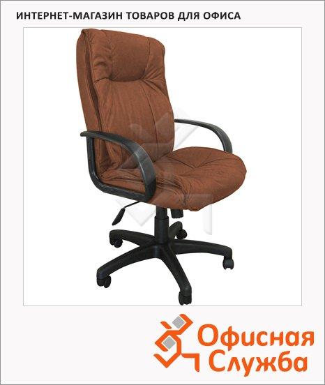 фото: Кресло руководителя Бюрократ CH-838AXSN иск. нубук крестовина пластик, коричневый