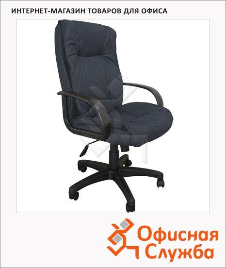 фото: Кресло руководителя Бюрократ CH-838AXSN иск. нубук крестовина пластик, темно-серый