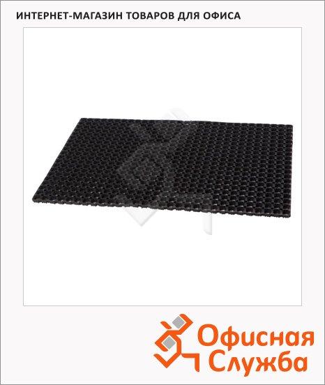 фото: Коврик придверный резиновый 80х120см, 22мм, черный
