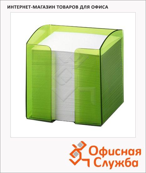 Блок для записей непроклеенный в подставке Durable Trend зеленый, 90х90мм, 5х10см