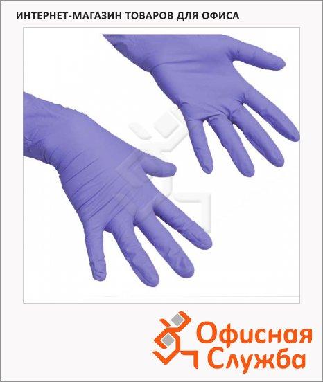 Перчатки нитриловые Vileda Pro ЛайтТафф L, сиреневые, 137977