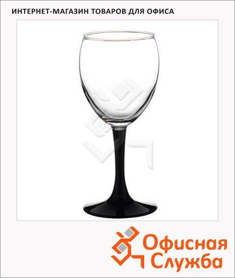 фото: Бокал для вина Imperial Black 240мл 4шт/уп