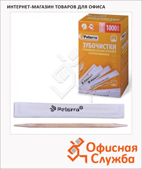 Зубочистки Paterra 1000шт, бумажная упаковка
