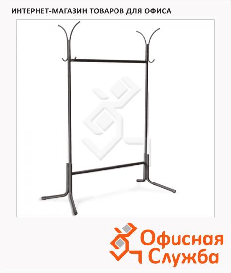 Вешалка-стойка напольная Nowy Styl Офис 5 187х106х42 см, черная