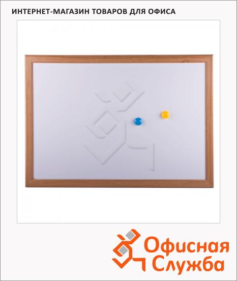 Доска магнитная маркерная Brauberg 34.2x48.4см, белая, лаковая, деревянная рама