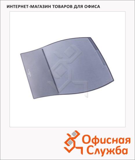 Коврик настольный для письма Durable Desk Pad 39х44см, 3 кармана, серый, 7209-10