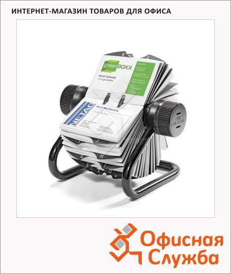 Картотека для визиток Durable на 400 карточек, 104х72мм, черная, 2481-01