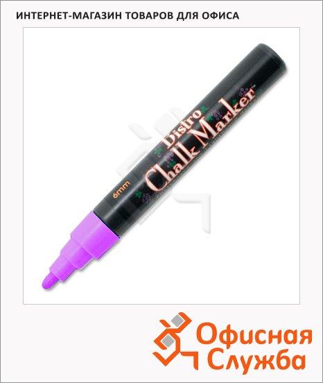 Маркер меловой Marvy 480 неоновый фиолетовый, 1.5-6мм, круглый наконечник, для окон и темных досок