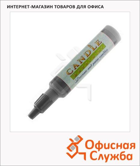 Воск для свечей Marvy М111 серебристый, 0.5-3мм, жидкий в тубе