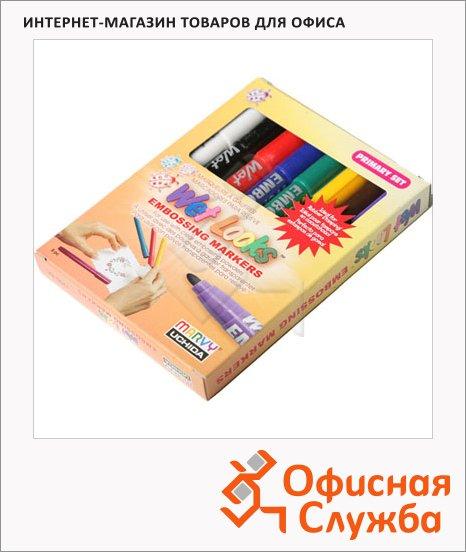 Маркер для эмбоссинга Marvy 1700 набор 8 цветов, классические оттенки