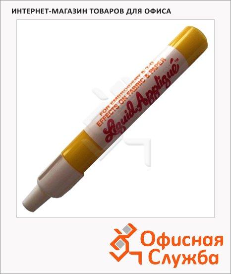 фото: Маркер по ткани Marvy 322 желтый 1мм, тонкий наконечник, с эффектом бархата