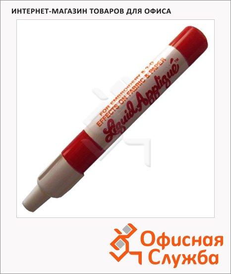 Маркер-тюбик для ткани и бумаги Marvy М322, 1мм, объемный эффект, темно-красный