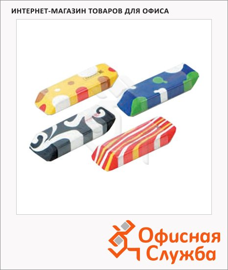 Ластик Brunnen Multicolor 43х19х8мм, ассорти, 29991