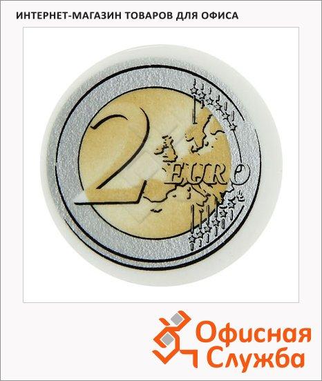 Ластик Brunnen Евро d=3см, белый, круглый, 29988, 32шт.
