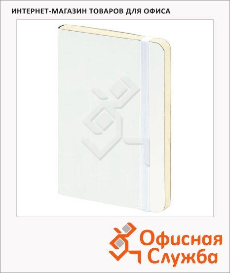 фото: Блокнот Brunnen белый А5, 48листов, в клетку, на сшивке, рециклированная кожа, кремовая бумага, 55655-00