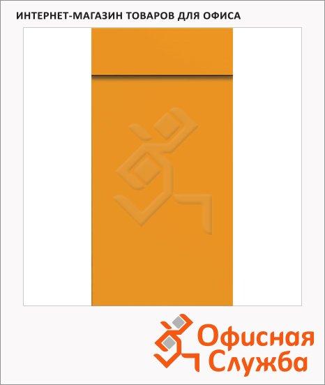 Блокнот Brunnen желтый, 6.5х13см, 40 листов, нелинованный, на склейке, с отрывными листами, 55366-42