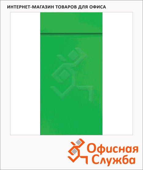 фото: Блокнот Brunnen зеленый 6.5х13см, 40 листов, нелинованный, на склейке, с отрывными листами, 55366-52