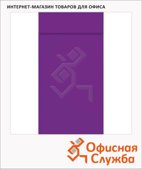 фото: Блокнот фиолетовый 6.5х13см, 40 листов, нелинованный, на склейке, с отрывными листами, 55366-60