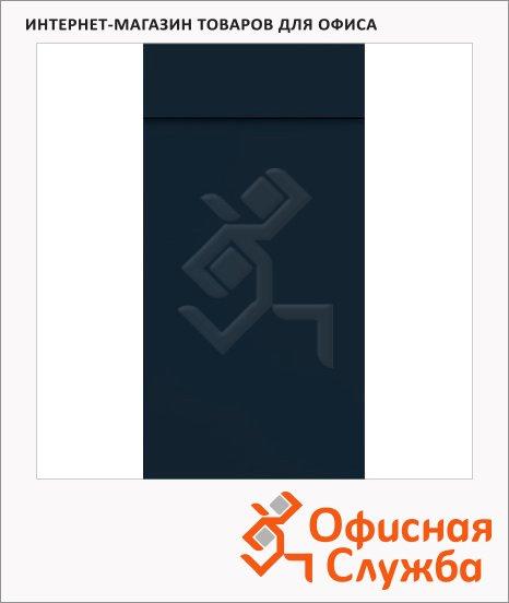 Блокнот Brunnen черный, 6.5х13см, 40 листов, нелинованный, на склейке, с отрывными листами, 55366-90