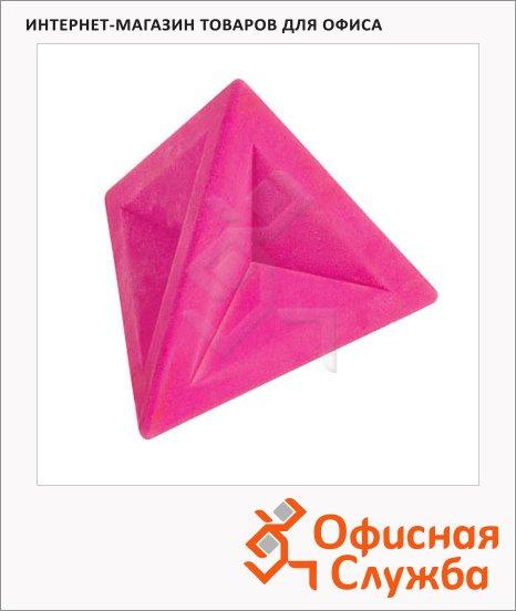 Ластик Brunnen 4.5х4.5х4см, треугольный, 29974, розовый