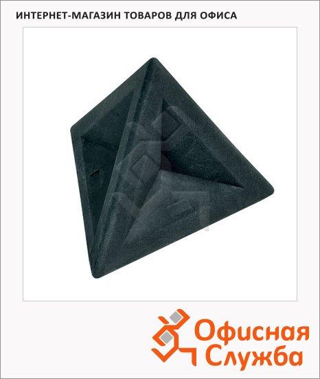 фото: Ластик Brunnen 4.5х4.5х4см треугольный, 29974, черный