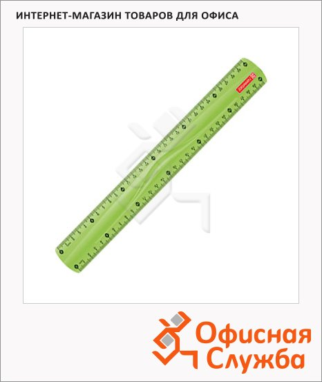 Линейка Brunnen 49730 30см, зеленая