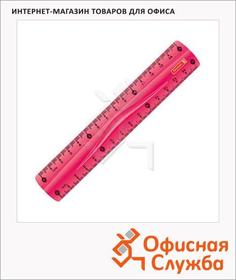 Линейка Brunnen 49730 30см, розовая