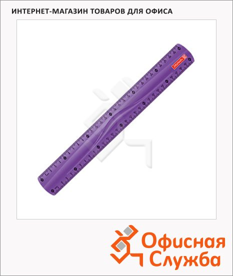 фото: Линейка Brunnen 49730 30см фиолетовая