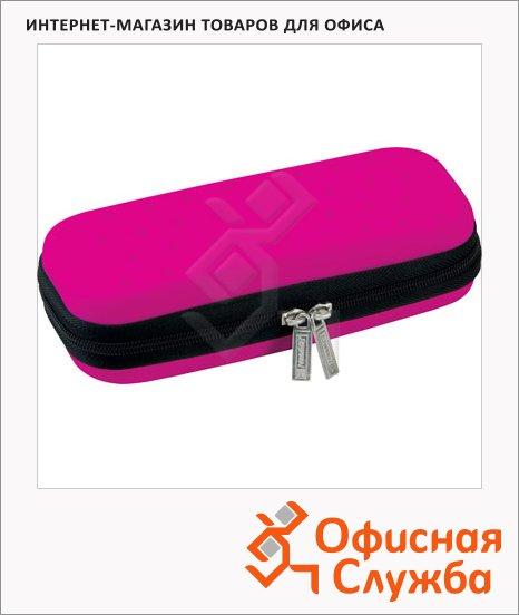 Пенал для девочек Brunnen Color Code, каркасный, розовый